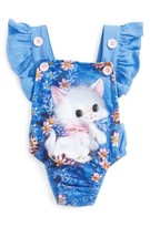Rock Your Baby Infant Girl's Retro Kitten Ruffle Bodysuit
