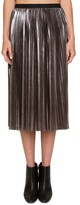 Willow & Clay Women's Pleated Metallic Skirt