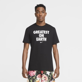 "Nike Men's Basketball T-Shirt Dri-FIT ""Greatest On Earth"""