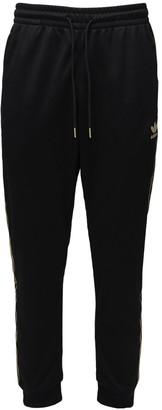 adidas 24k Nylon Track Pants W/ Stripes