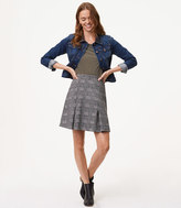 LOFT Plaid Pull On Skirt