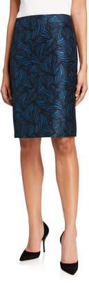 Anne Klein Jacquard Pencil Skirt