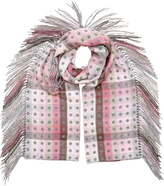 Fraas Side Fringe Rose Scarf
