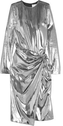 Saint Laurent Gathered Velvet-lame Dress