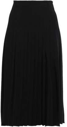 Rochas Pleated Cady Midi Skirt