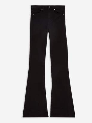 Topshop Jamie High Waist Stretch Flare Jeans -Black