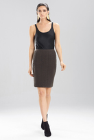 Josie Natori Textured Knit Jacquard Pencil Skirt