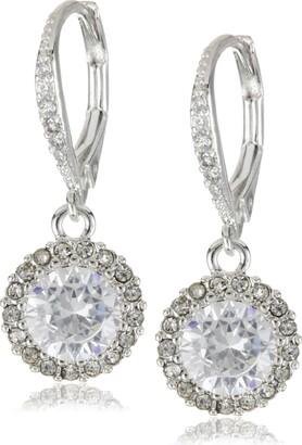 Betsey Johnson Women's CZ Drop Earrings Crystal Drop Earrings