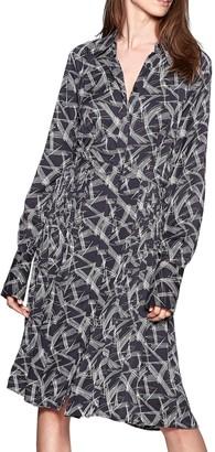 Equipment Julee Printed Silk Shirtdress