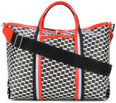 Pierre Hardy geometric print holdall - men - Leather - One Size