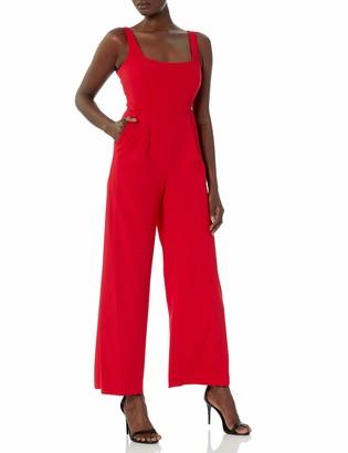 Calvin Klein Women's Sleeveless Square Neck Jumpsuit