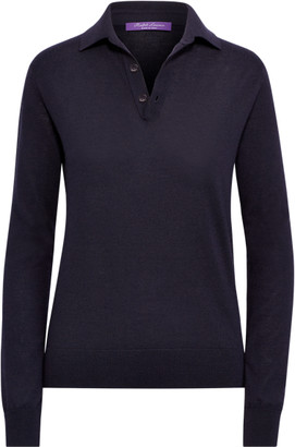 Ralph Lauren Cashmere Long-Sleeve Polo
