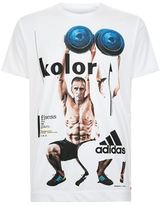 Adidas X Kolor Graphic Fitness Print T-Shirt