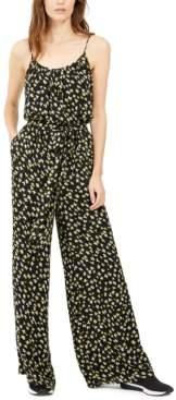 Michael Kors Michael Floral-Print Tie-Waist Jumpsuit, Regular & Petite