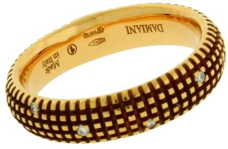 Damiani 18K Yellow Gold 0.07ct. Diamond Band Ring Size 6