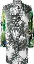 Max Mara leaves print elongated shirt - women - Cotton - 40