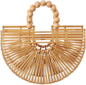 Cult Gaia Fan Ark Mini Bamboo Clutch