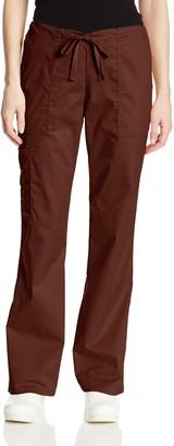 Cherokee Women's Tall Plus-Size Workwear Scrubs Core Stretch Drawstring Cargo Pant