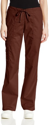 Cherokee Women's Workwear Scrubs Mid-Rise Core Stretch Drawstring Cargo Pant