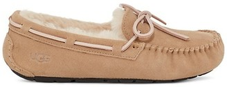UGG Dakota Faux Shearling-Lined Suede Slippers
