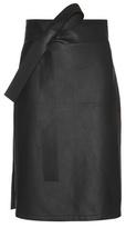 Bottega Veneta Leather Wrap Skirt