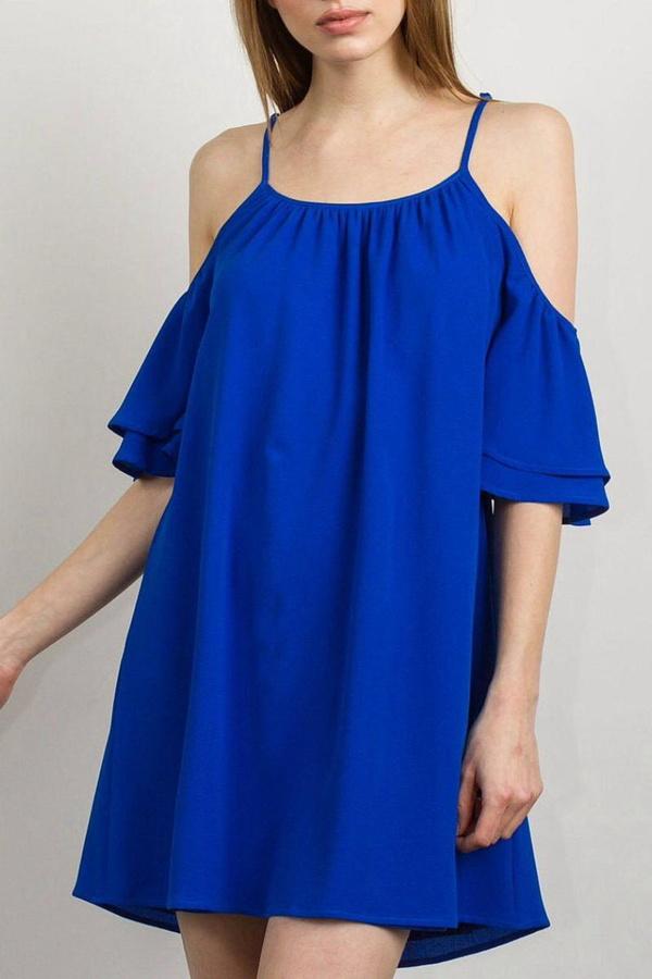 Tcec Cold-Shoulder Dress