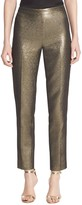 St. John Metallic Tweed Cropped Pants