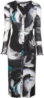 Dvf Diane Von Furstenberg Printed Wrap Dress