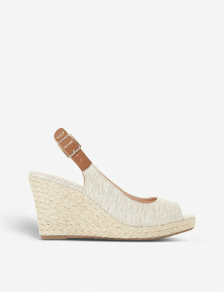 Dune Kicks espadrille wedge sandals