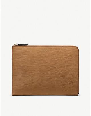 Smythson Panama large leather pouch