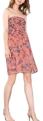 Esprit Women's 076EO1E029 Dress, Multicoloured (GOLDEN ORANGE 2)