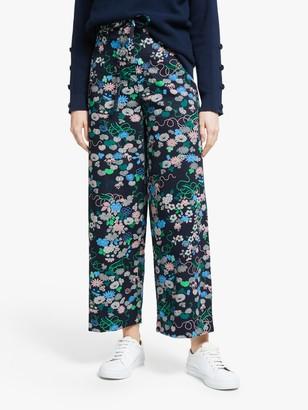 People Tree V&A Kimono Floral Trousers, Multi