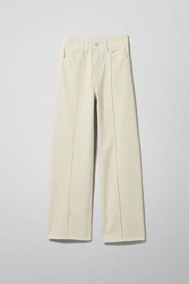 Weekday Nellie Denim Trousers - Beige