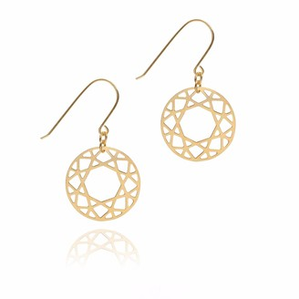 Myia Bonner Gold Brilliant Diamond Drop Earrings