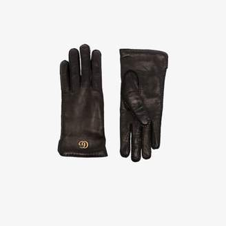 Gucci black Maya GG leather gloves