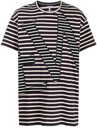 Loewe striped oversized-fit T-shirt