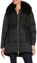 1 Madison Genuine Fox Fur-Trim Down Puffer Coat