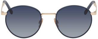 Viu VIU Navy and Gold The Navigator Sunglasses