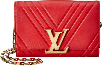Louis Vuitton Red Lambskin Leather Louise Gm