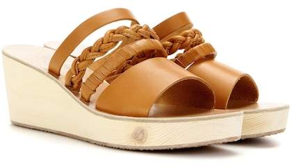 Ancient Greek Sandals Helene leather wedge sandals