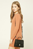 Forever 21 FOREVER 21+ Structured Faux Leather Crossbody