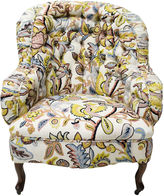 One Kings Lane Vintage Crewelwork Tufted Chair