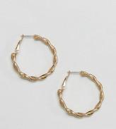 Reclaimed Vintage Inspired Twisted Hoop Earrings