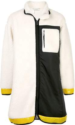 N. Hoolywood shearling panel jacket