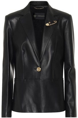 Versace Leather blazer