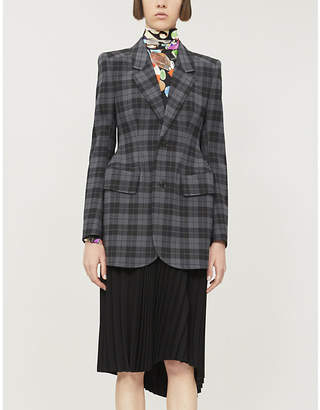 Balenciaga Hourglass slim-fit checked woven blazer