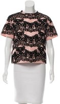 RED Valentino Abstract Print Velvet Top