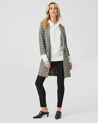 Le Château Check Print Jacquard Relaxed Fit Blazer