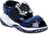 Roger Vivier Viv' Run Strass Buckle Sandals