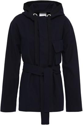 Sandro Fanfan Belted Cotton-gabardine Jacket
